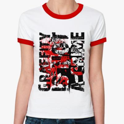 Женская футболка Ringer-T Graffity   Ж (б/к)