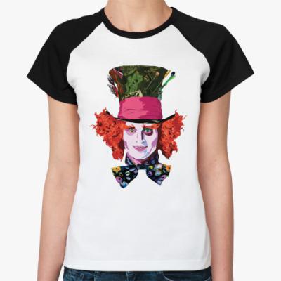 Женская футболка реглан Mad Hatter  Жен ()