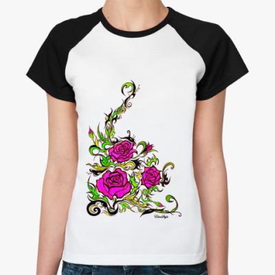 Женская футболка реглан Ultra rose