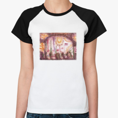 Женская футболка реглан Слоник