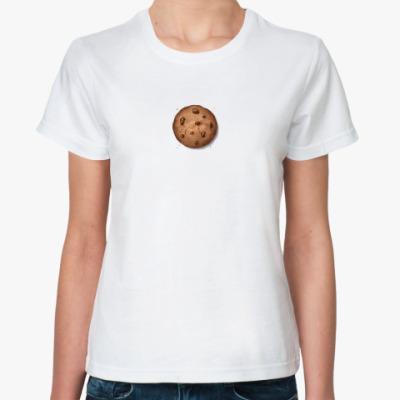 Классическая футболка  футболка Печенька