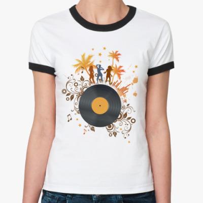 Женская футболка Ringer-T   Party