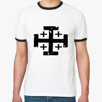 Футболка Ringer-T Jerusalem's Cross
