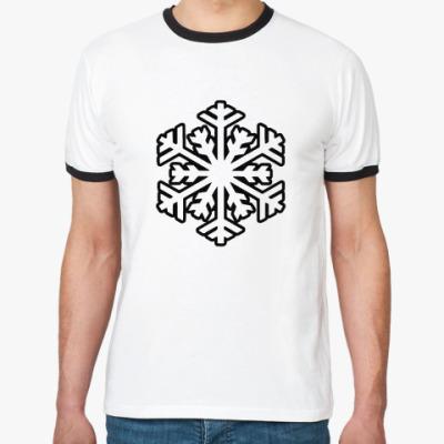 Футболка Ringer-T   'Снежинка'