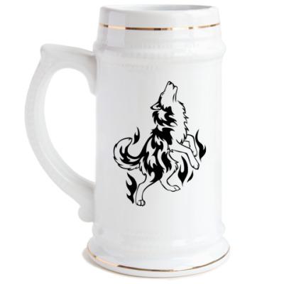 Пивная кружка Волк