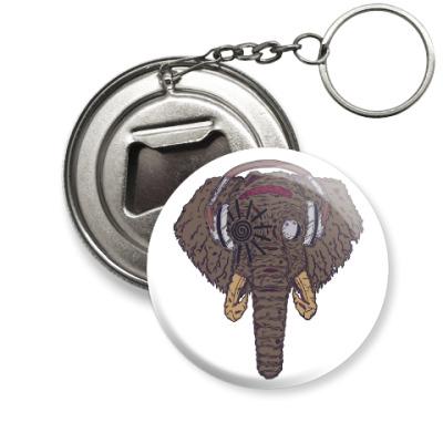 Брелок-открывашка Слон в наушниках