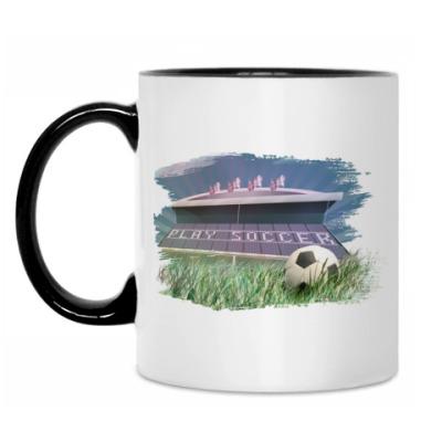 Кружка 'футбольный стадион'.