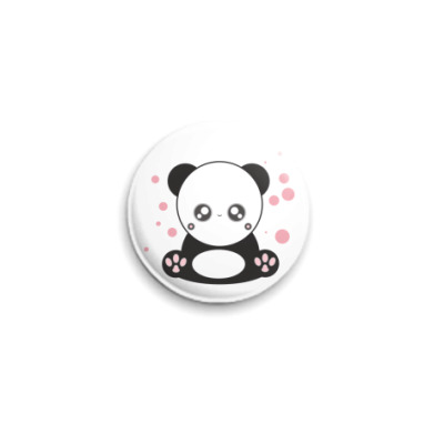 Значок 25мм  Panda