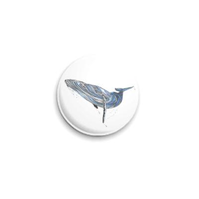 Значок 25мм 'Синий кит'