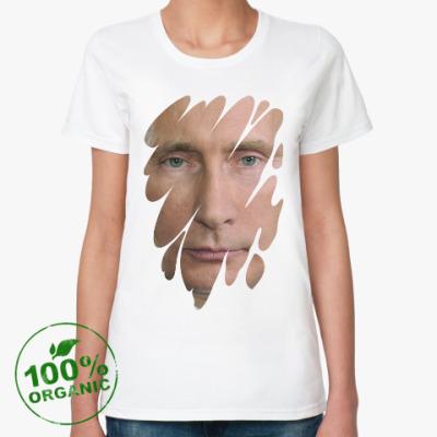 Женская футболка из органик-хлопка Президент РФ