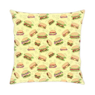 Подушка Бургеры