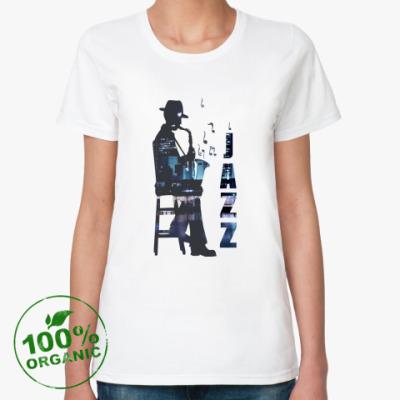 Женская футболка из органик-хлопка  Jazz