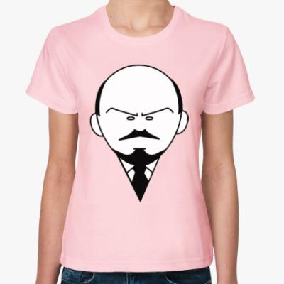 Женская футболка Ленин