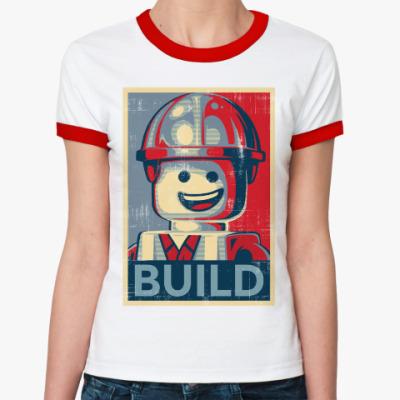 Женская футболка Ringer-T Лего Строитель
