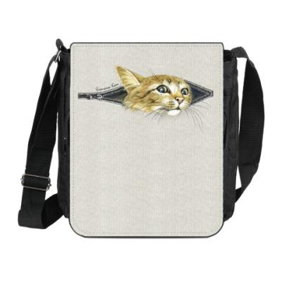 Сумка на плечо (мини-планшет) Внутренний Кот