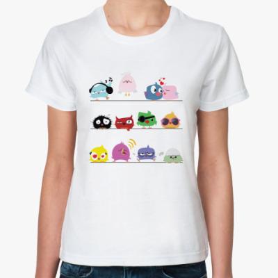 Классическая футболка Весёлые птички