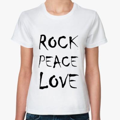 Классическая футболка rockpeacelove