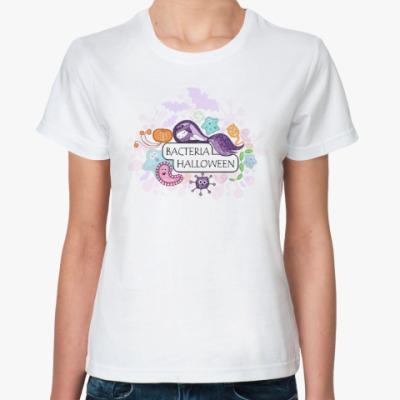 Классическая футболка Бактерия 'Хеллоуин'