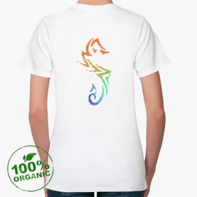 Женская футболка из органик-хлопка Морской конек