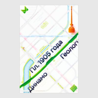 Постер Плакат схемы метро Екатеринбурга