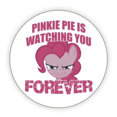 Костер (подставка под кружку) Пинки Пай наблюдает за тобой