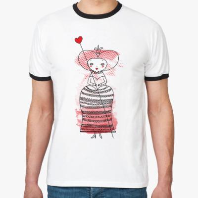 Футболка Ringer-T Queen of Hearts, Alice's Adventures in Wonderland
