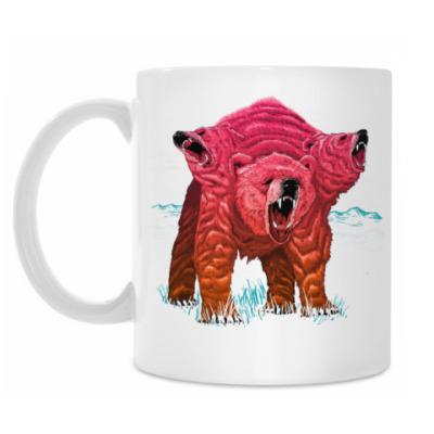 Кружка Трёхголовый Медведь