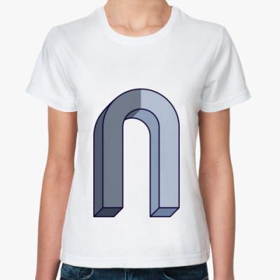 Классическая футболка +Magnet-