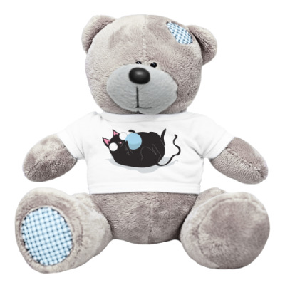 Плюшевый мишка Тедди Кот и мячик