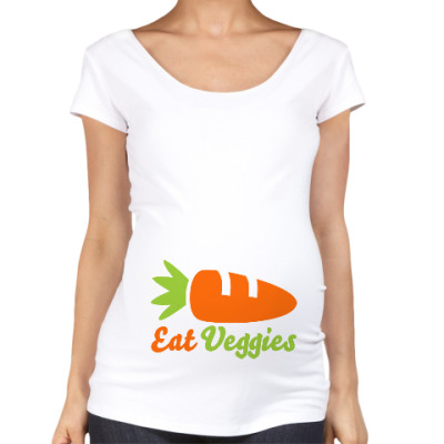 Футболка для беременных Eat Veggies