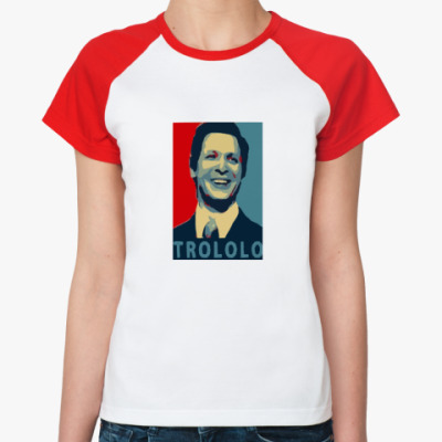 Женская футболка реглан Mr.Trololo