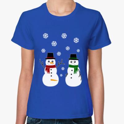 Женская футболка Happy Snowman