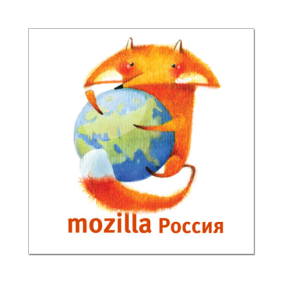 Наклейка (стикер)  Mozilla.Rus
