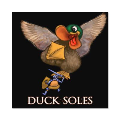 Наклейка (стикер) Duck Soles (черный фон)