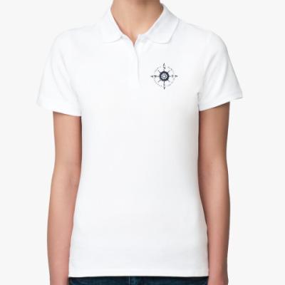 Женская рубашка поло Штурвал- компас