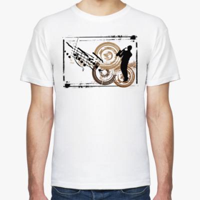 Футболка  Саксофонист