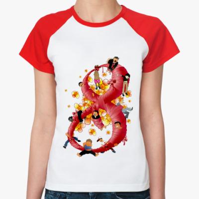 Женская футболка реглан 8 Марта