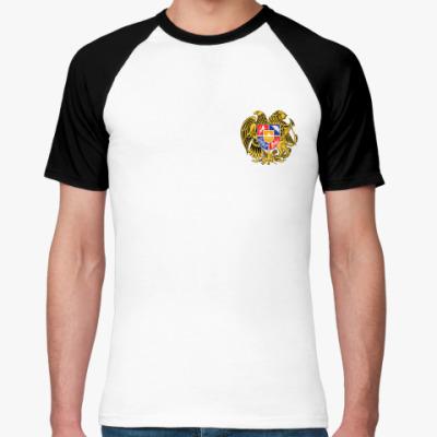Футболка реглан Армянский герб