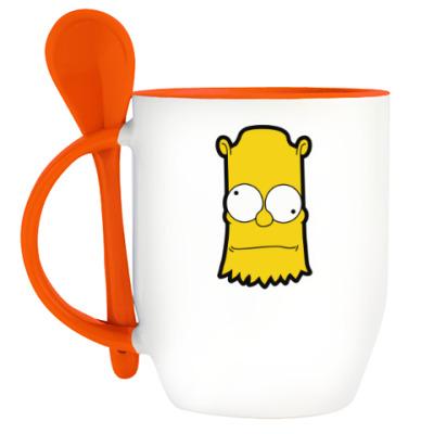 Кружка с ложкой Crazy Bart