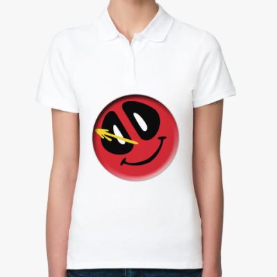 Женская рубашка поло Deadpool значок Комедианта