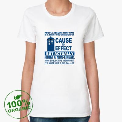 Женская футболка из органик-хлопка Doctor Who