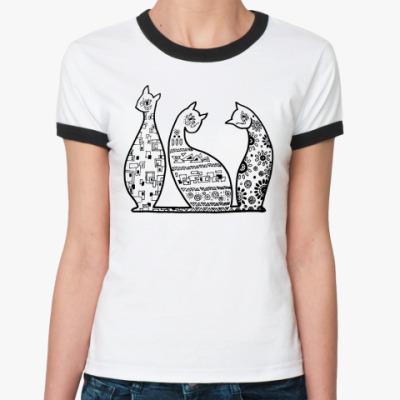 Женская футболка Ringer-T   Кошечки
