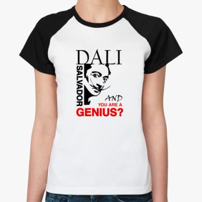 Женская футболка реглан Дали