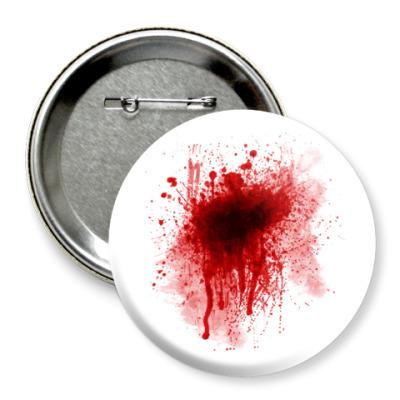 Значок 75мм Брызги Крови