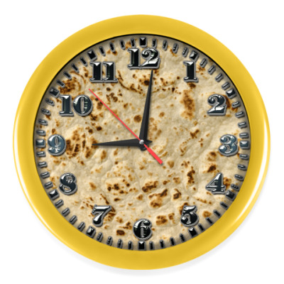 Настенные часы Лепешка,лаваш