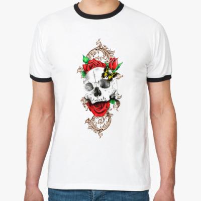 Футболка Ringer-T Skull&Roses