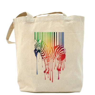Сумка Цветная зебра