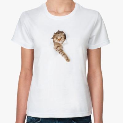 Классическая футболка Кот внутри