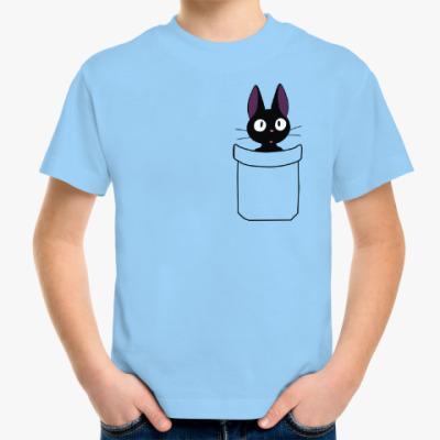 Детская футболка Кот в кармане