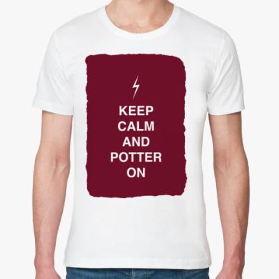 Футболка из органик-хлопка Keep calm and Potter on